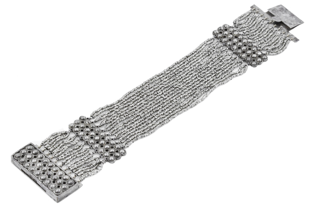 Georgian Cut Steel Beaded Cuff Bracelet