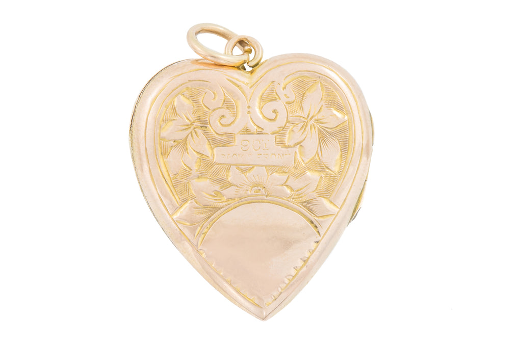 Victorian Gold Heart Locket