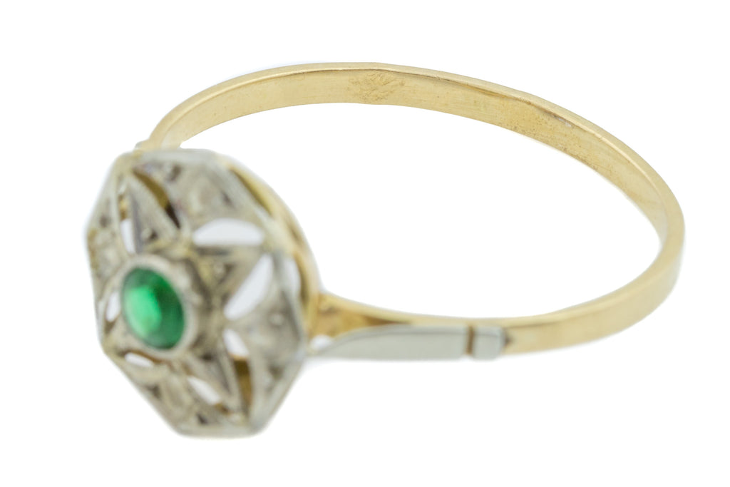 Art Deco 18ct Gold French Dress Ring c.1920