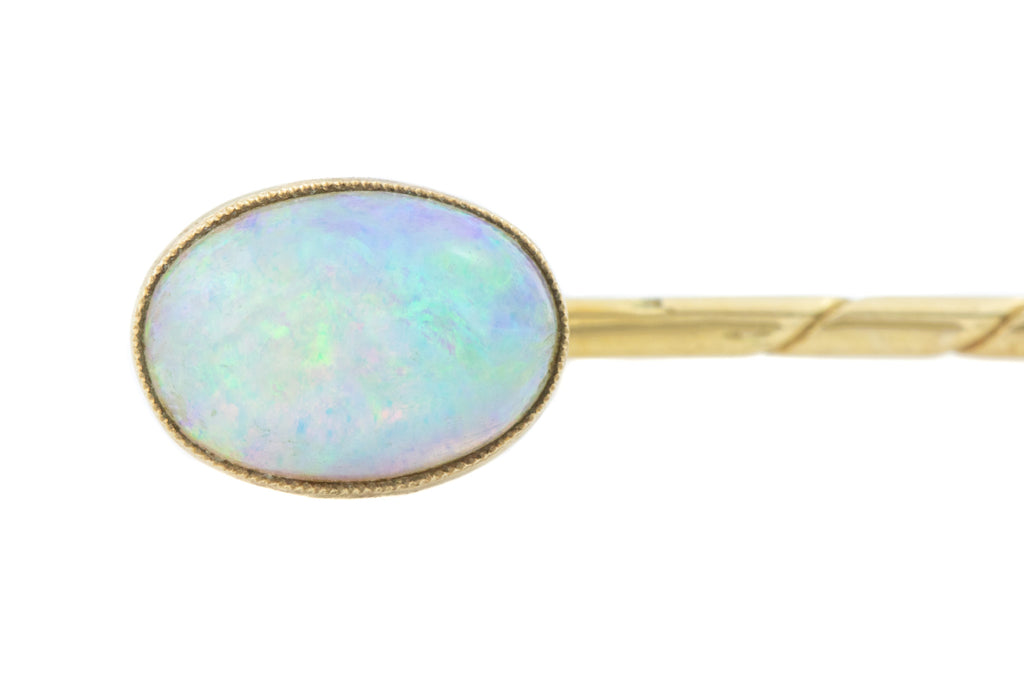 Antique 14ct Gold Opal Stick Pin (0.80ct)
