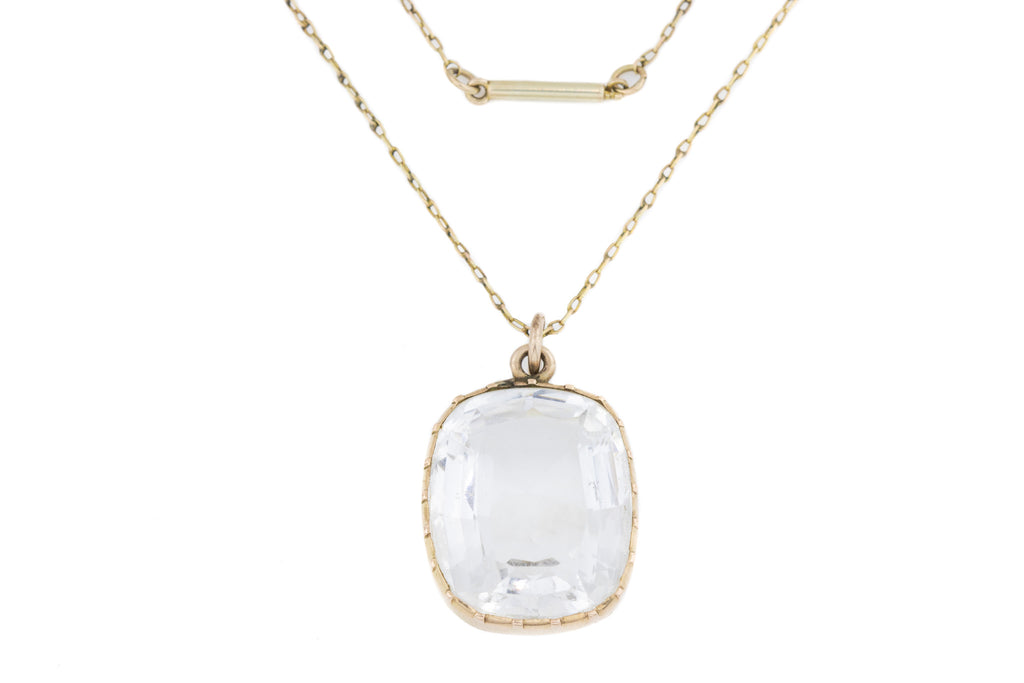 Georgian Rock Crystal Pendant in 9ct Gold