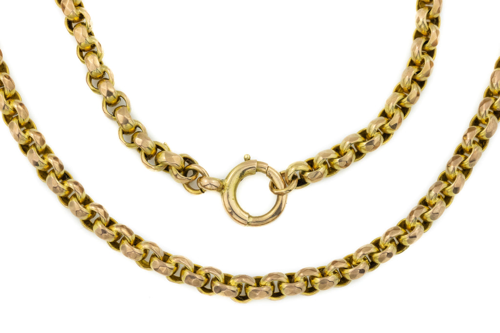 "Antique 9ct Yellow Gold Belcher Chain, 19.5"" (24.5g)"