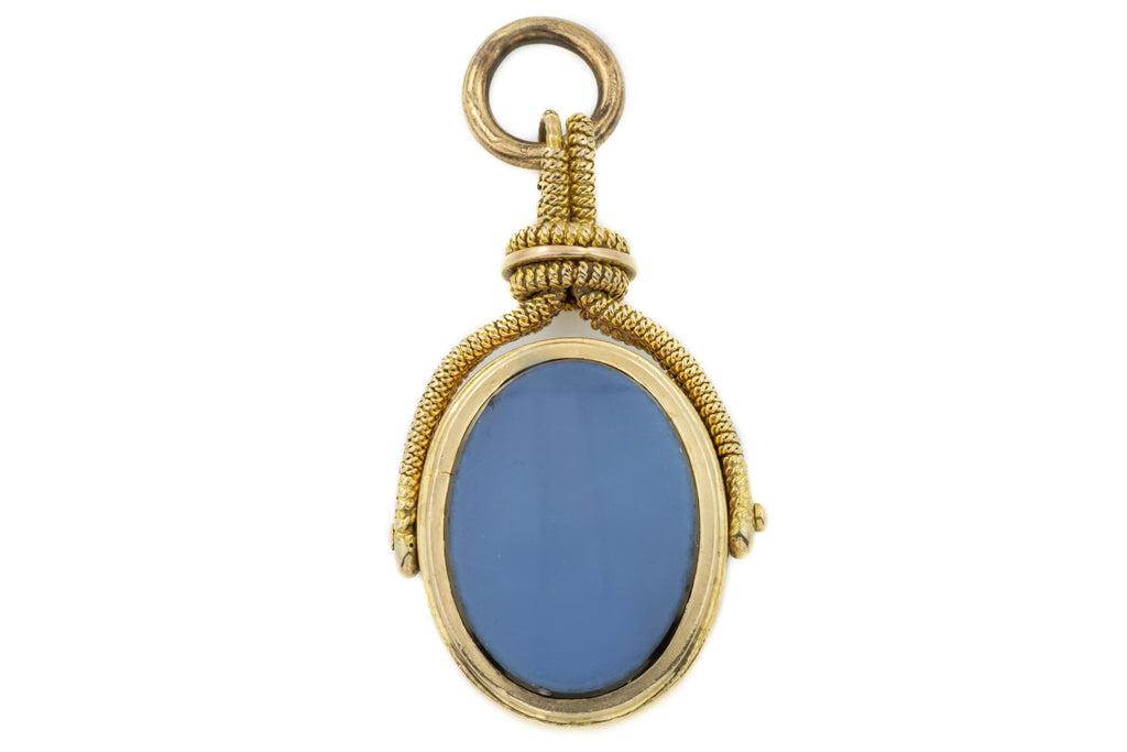 Victorian 15ct Gold Agate Swivel Fob Pendant