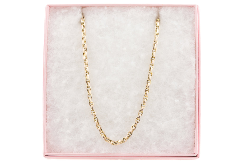 "Antique Chunky Gold Chain, 16"" (8.6g)"