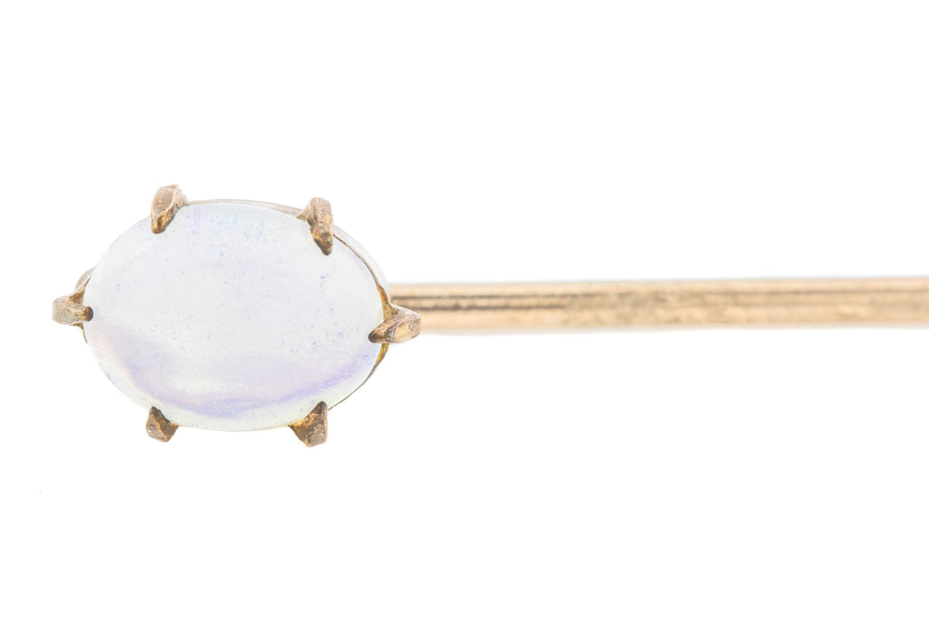Antique 9ct Gold Opal Stick Pin
