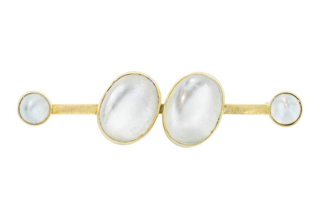 Antique 15ct Gold Moonstone Brooch (10.70ct)
