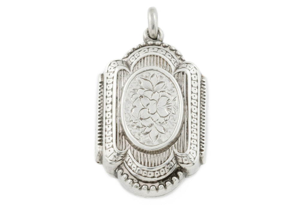 Ornate Victorian Silver Locket