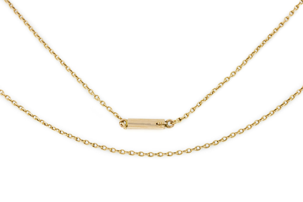 "Antique 15ct Gold Chain with Barrel Clasp, 22"" (3.8g)"