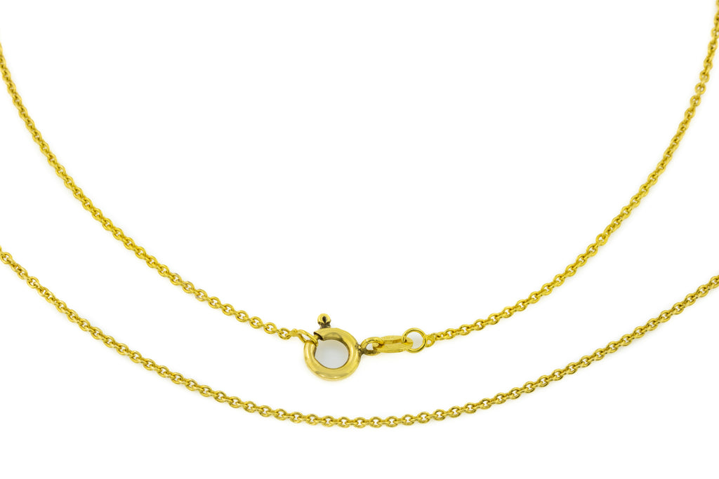 "18ct Gold Pendant Chain, 16"" (2.5g)"