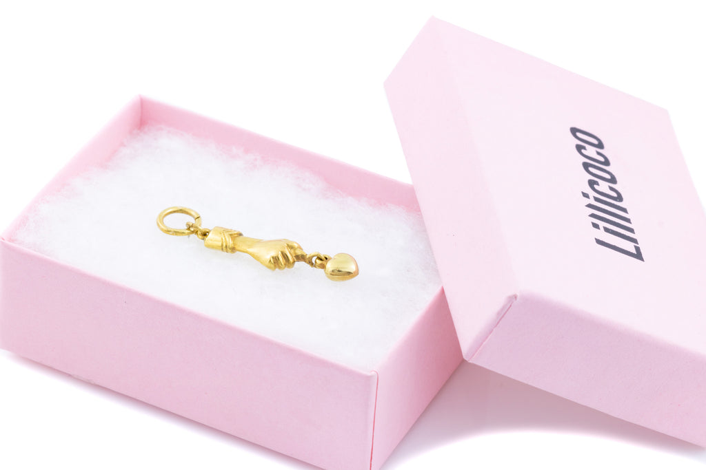 Victorian 15ct Gold Figa Heart Charm