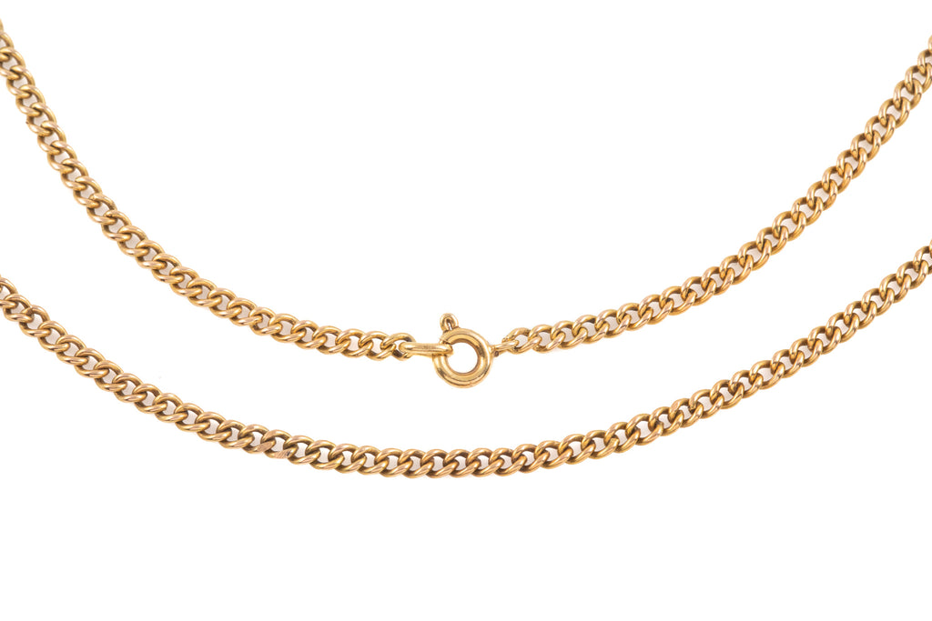 "Victorian Gold Curb Chain, 19"" (6.9g)"
