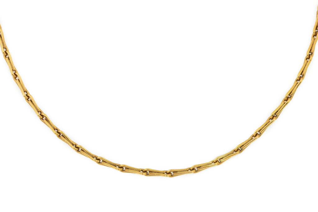"Victorian 9ct Gold Paperclip Chain, 18"" (7.5g)"