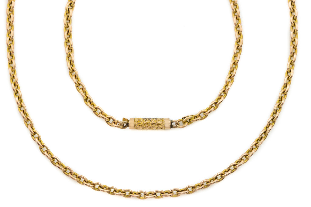 Antique 9ct Rose Gold Chain, 16""