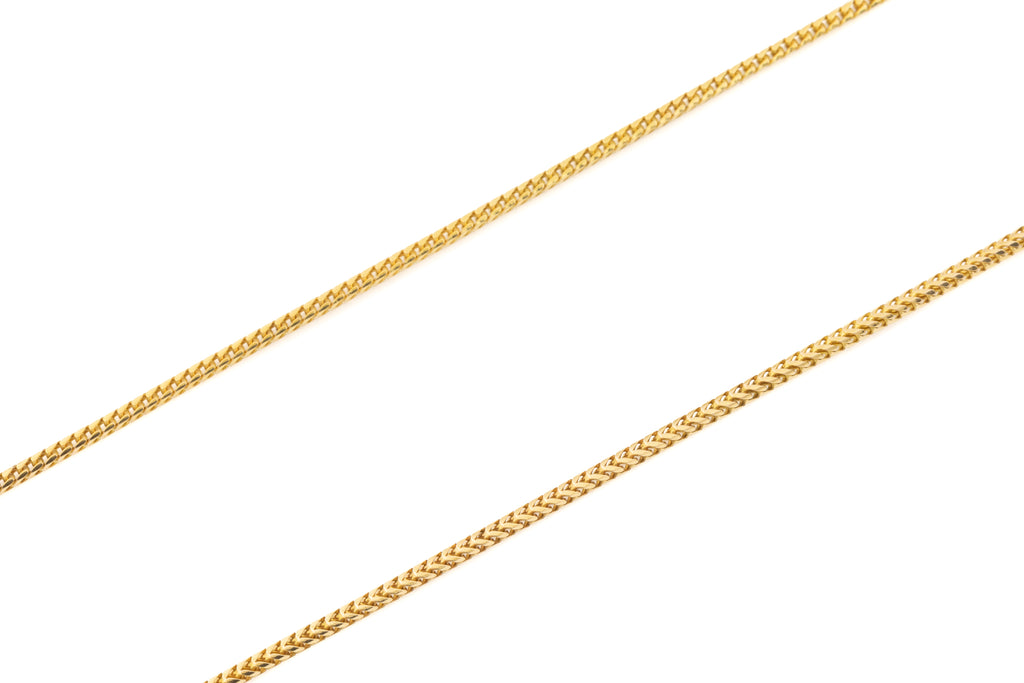 "Antique Bright Gold Snake Chain, 20 & 1/2"" (5.6g)"