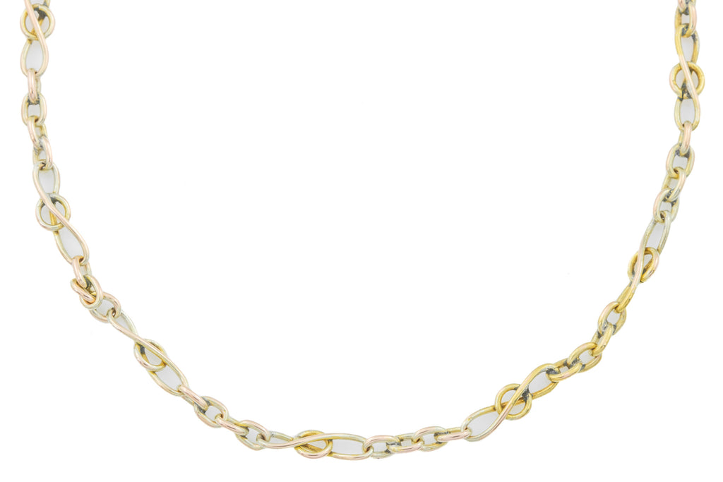 Art Nouveau 9ct Gold Chain, 16""