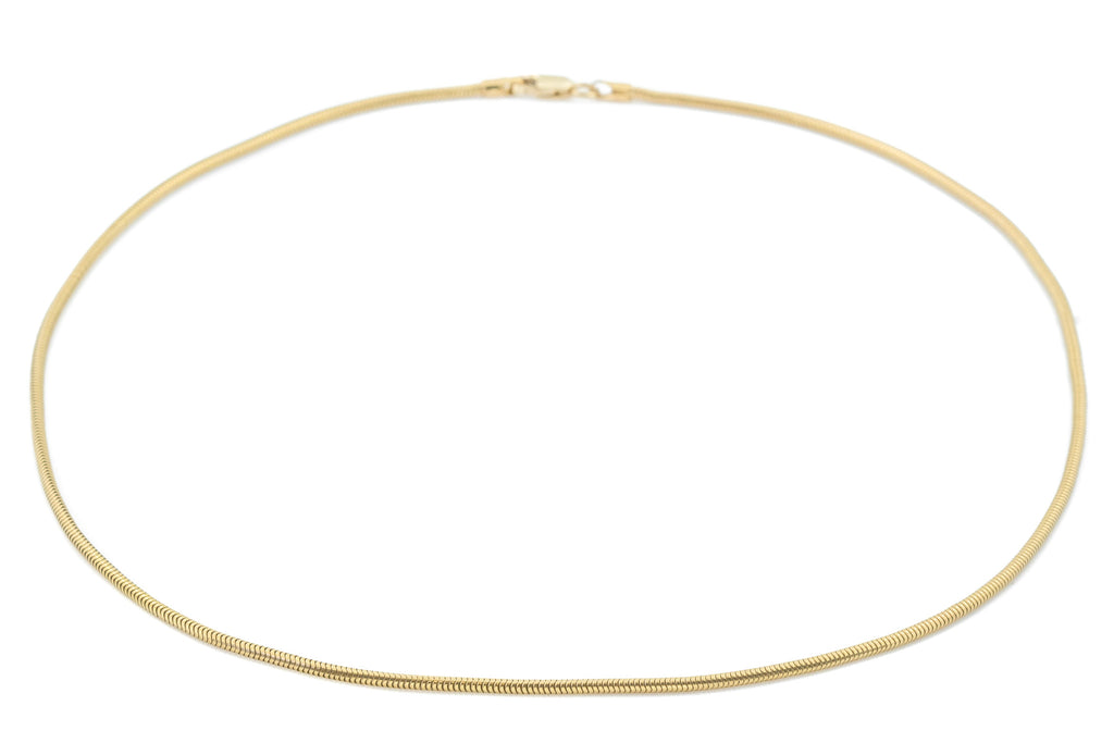 "9ct Gold Snake Chain, 15 & 6/8"" (4.6g)"