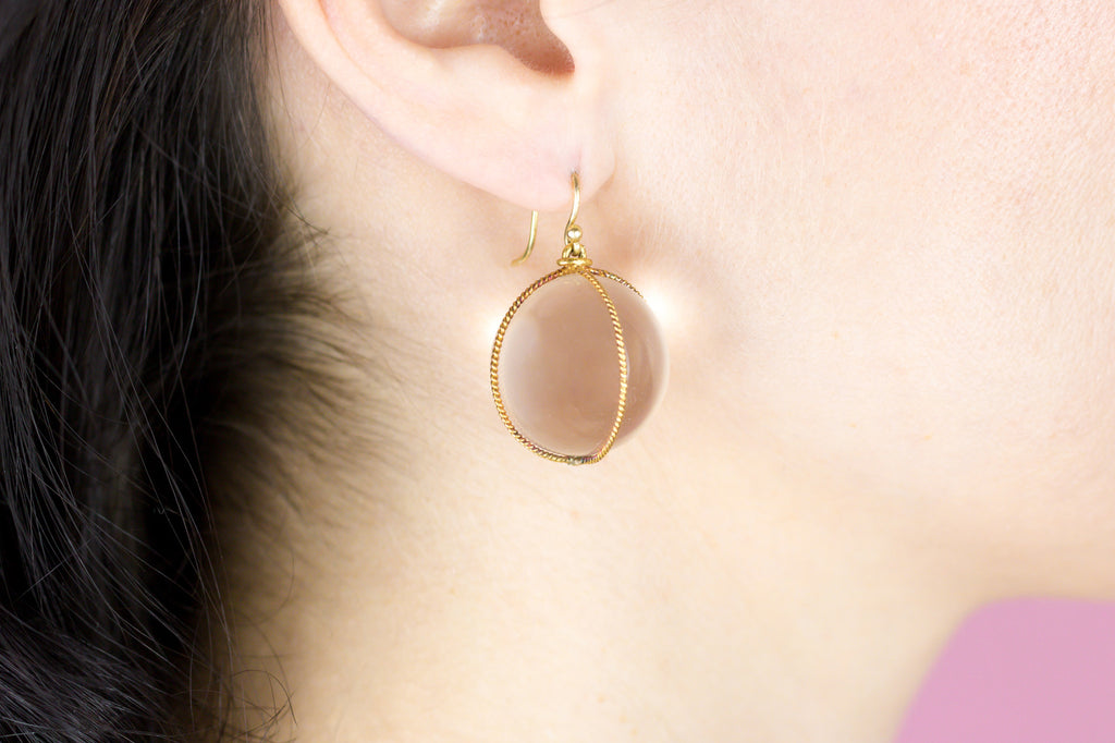 Antique Pools of Light Earrings in 18ct Gold