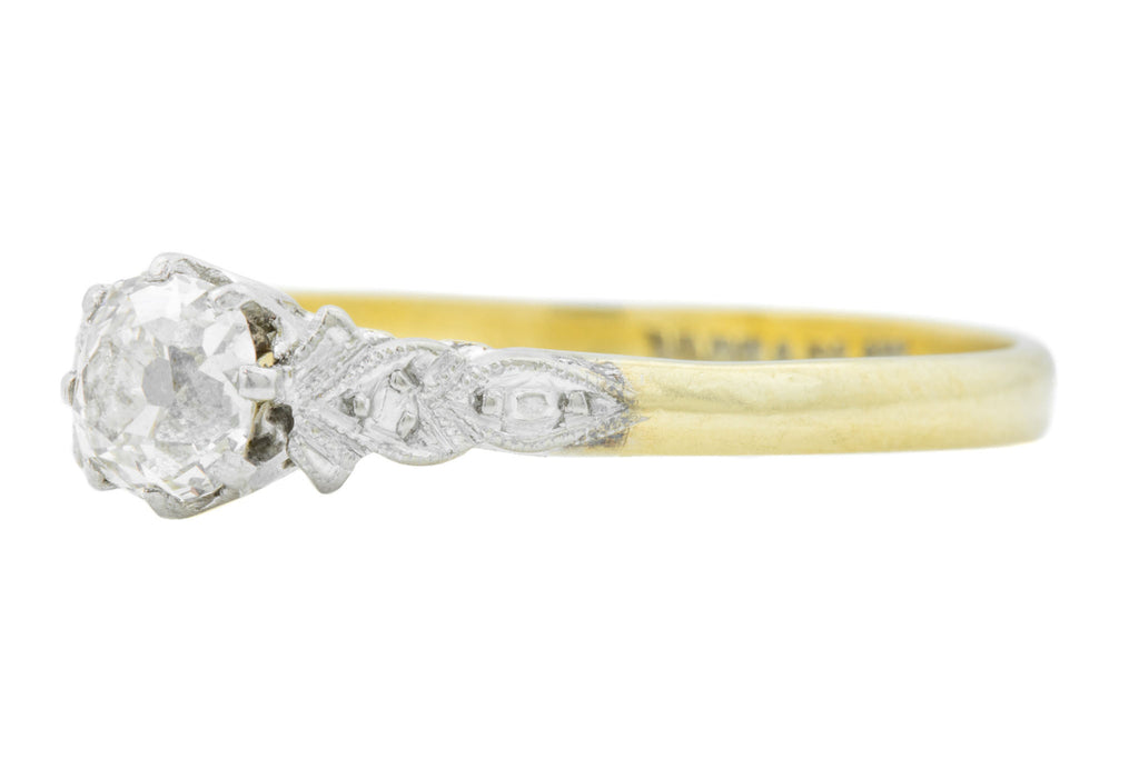 Art Deco Diamond Solitaire Engagement Ring (0.45ct)