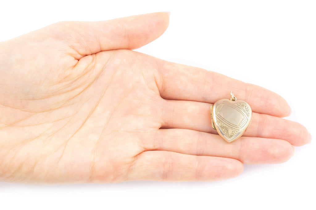 Edwardian 9ct Gold Heart Locket