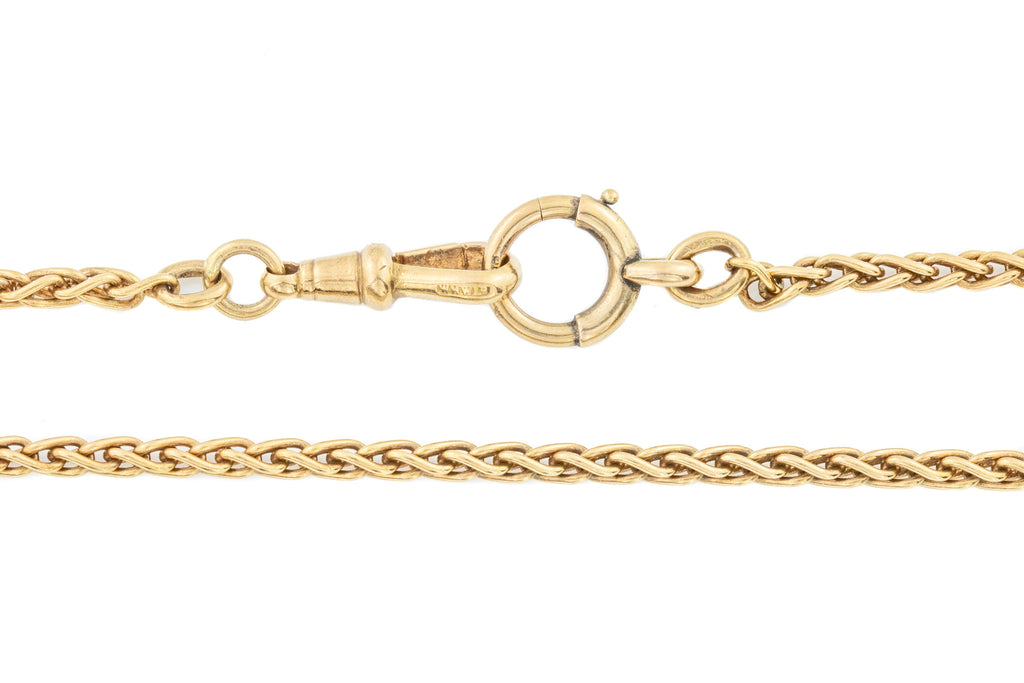 "Victorian 9ct Gold Spiga Chain Necklace,17"" (16.1g)"