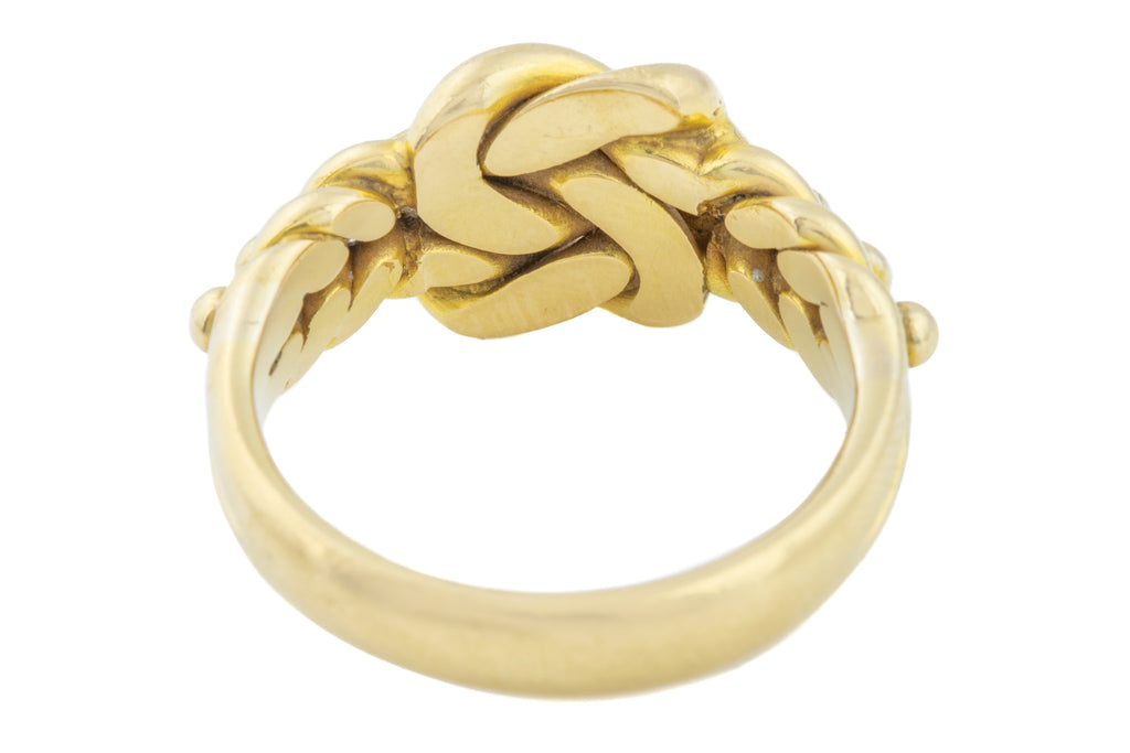 18ct Yellow Gold Antique Heavy Keeper Ring