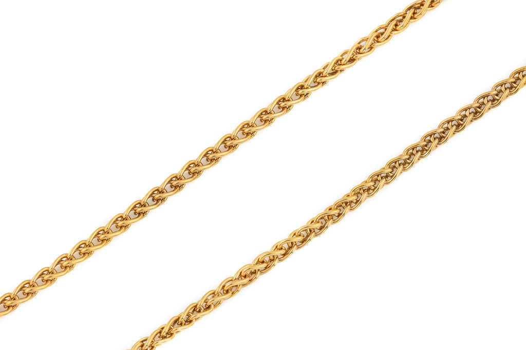"Victorian Rose Gold Fox Tail Chain, 18 & 1/2"" (17.1g)"