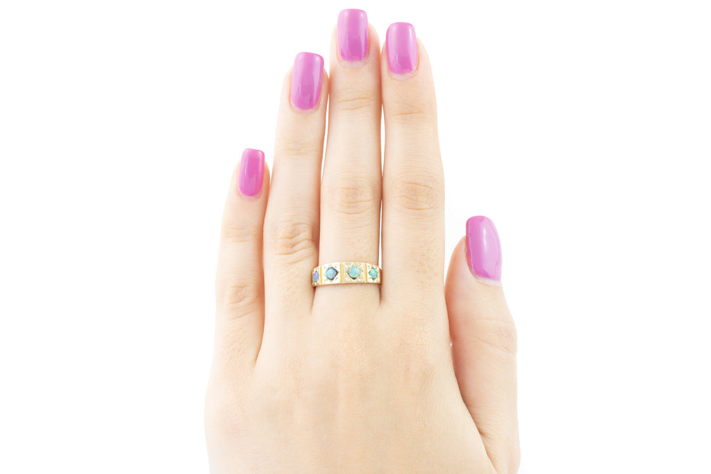 Victorian 15ct Gold Gypsy Opal Ring
