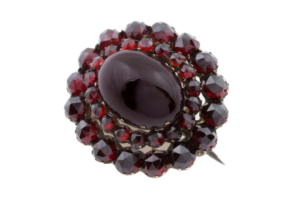 Antique Garnet Cluster Brooch, 8.22ct.