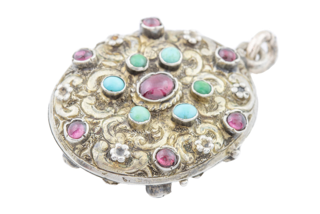 Austro-Hungarian Ornate Silver Locket