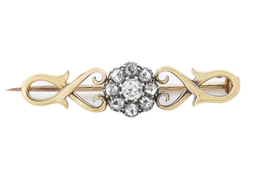15ct Gold Edwardian Diamond Brooch (0.41ct)
