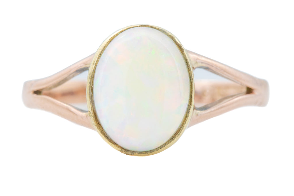 9ct Rosy Gold Antique Opal Ring c.1918