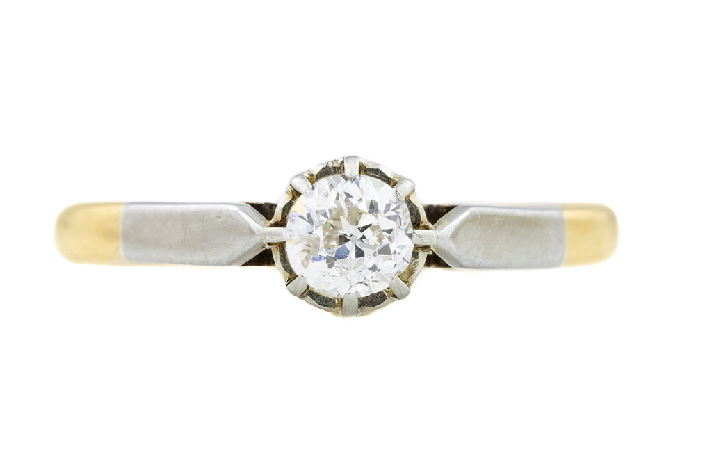 Art Deco 18ct Gold Diamond Ring (0.25ct)