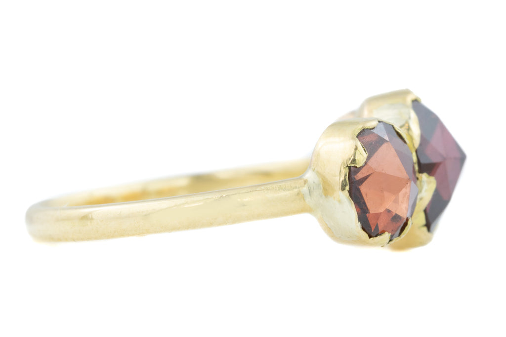 18ct Gold French Georgian Perpignan Garnet Ring