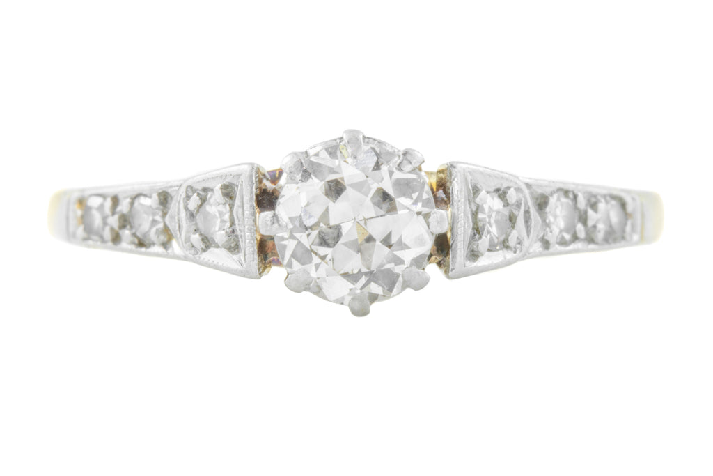 18ct Art Deco Diamond Engagement Ring (0.53ct)