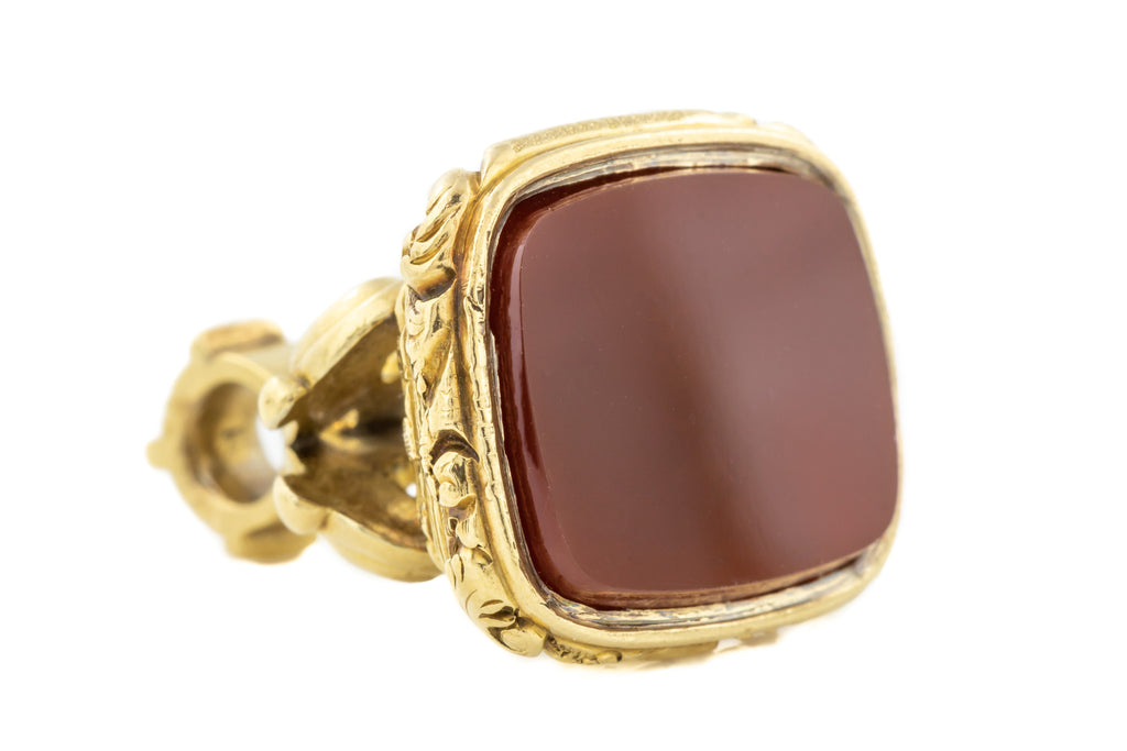 18ct Gold Victorian Carnelian Fob