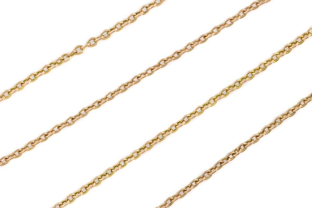 "Antique 10ct Gold Long guard Chain, 54.5"" (16.7g)"