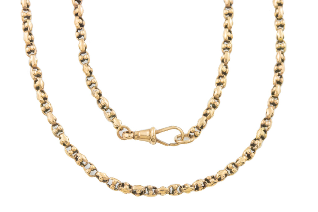 "Victorian Rosy Gold Chain, 17 & 3/4"" (9.1g)"
