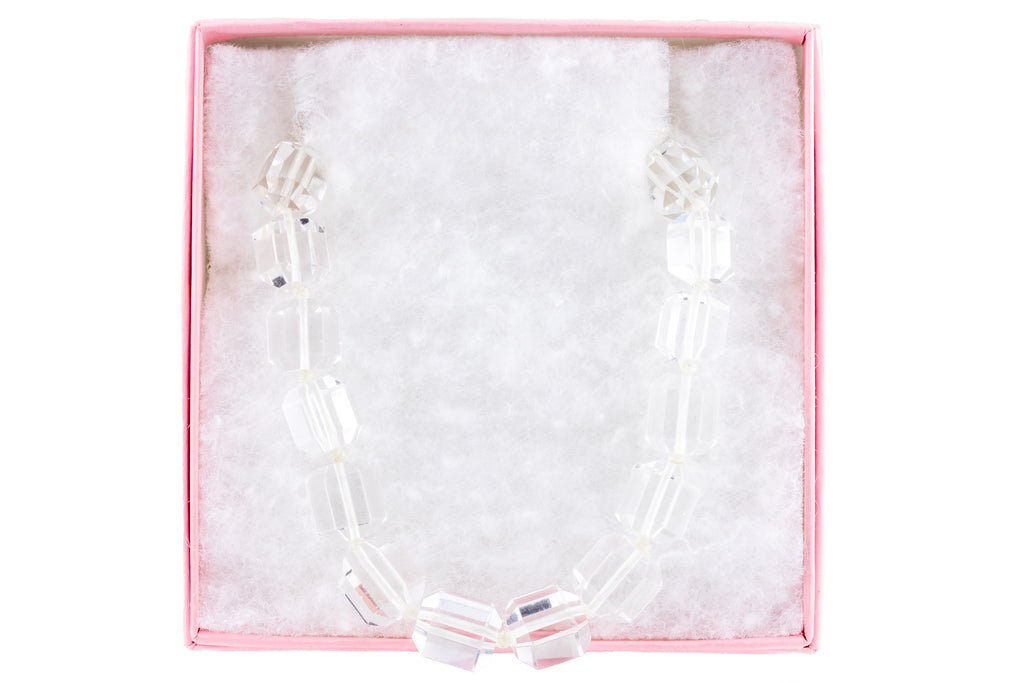 "Art Deco Rock Crystal Necklace, 19 & 1/2"" (70.7g)"
