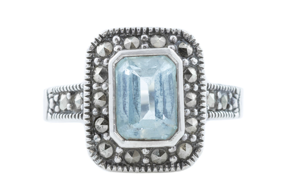 Art Deco Topaz & Marcasite Dress Ring c.1920