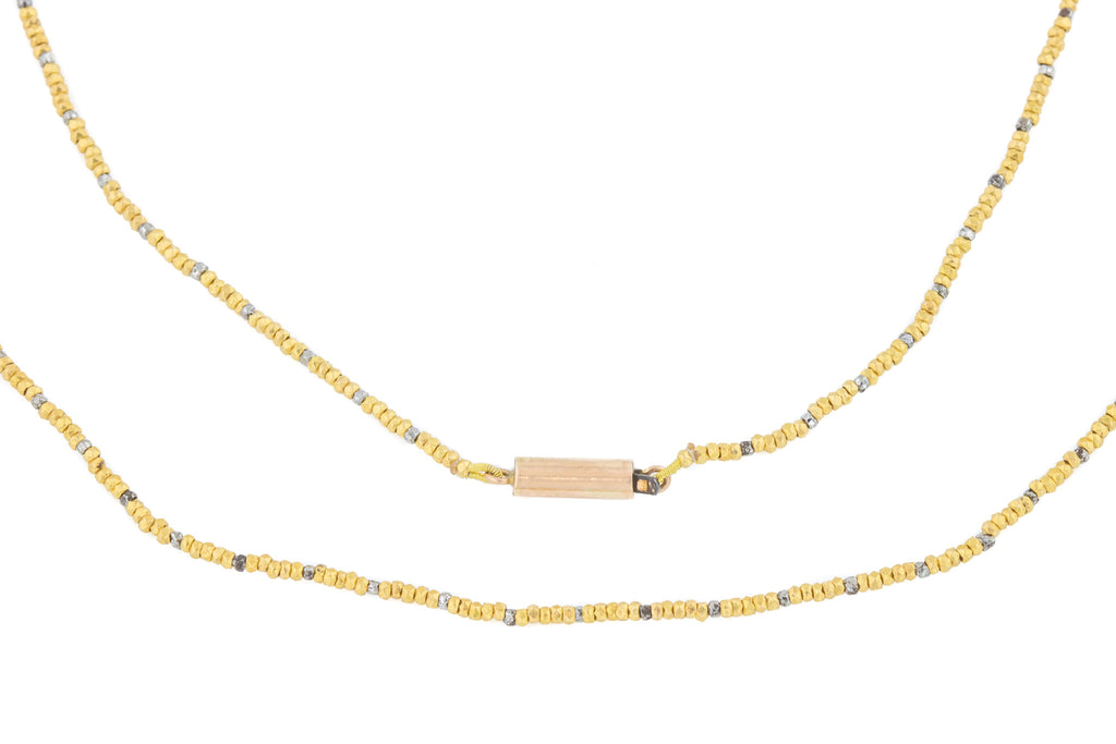 Georgian Cut Steel Gold Necklace, 16""