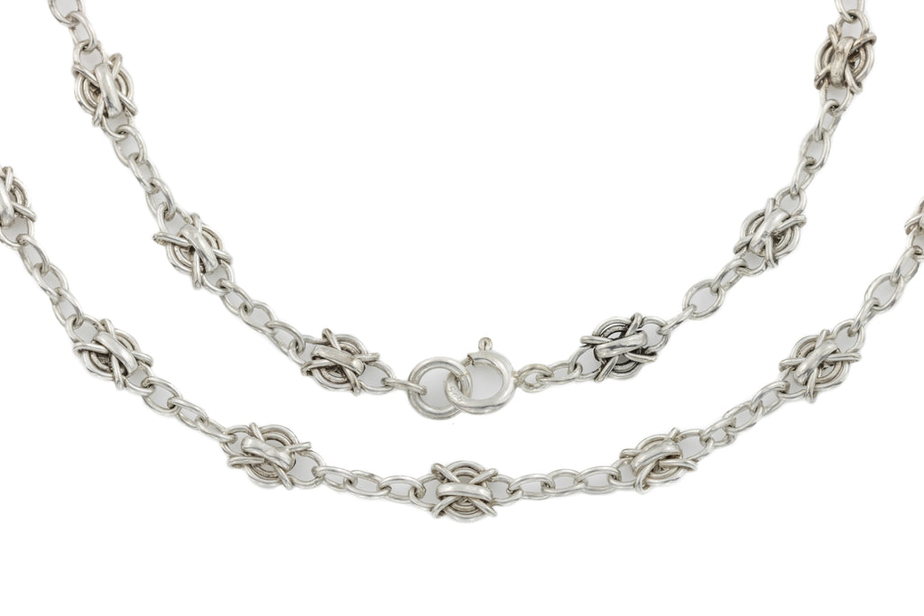 Antique Silver Fancy Chain, 20""