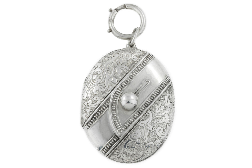Victorian Silver Buckle Motif Locket