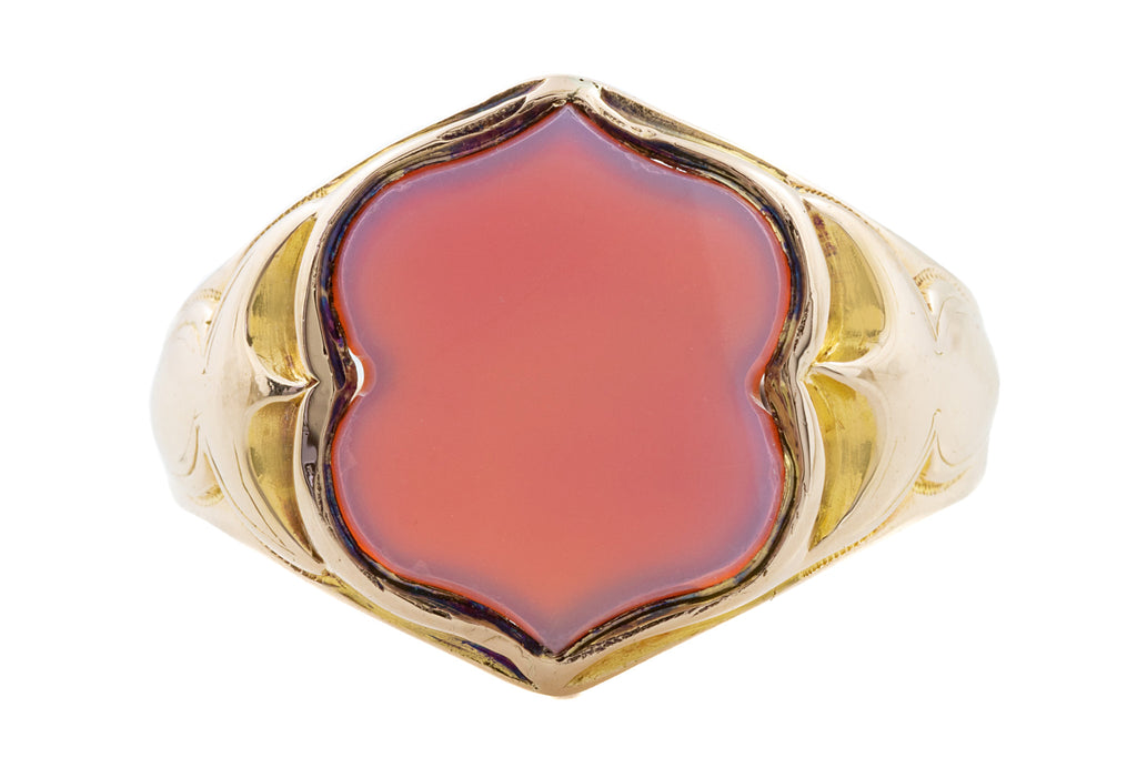 15ct Gold Antique Gentleman's Agate Ring c.1870