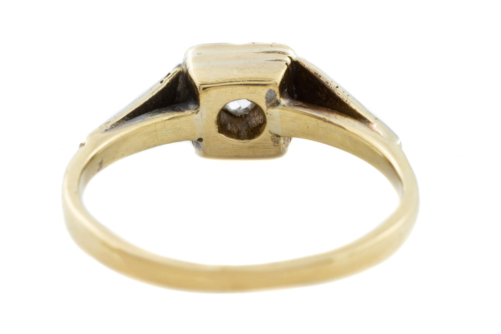 18ct Gold Art Deco Diamond Solitaire Ring