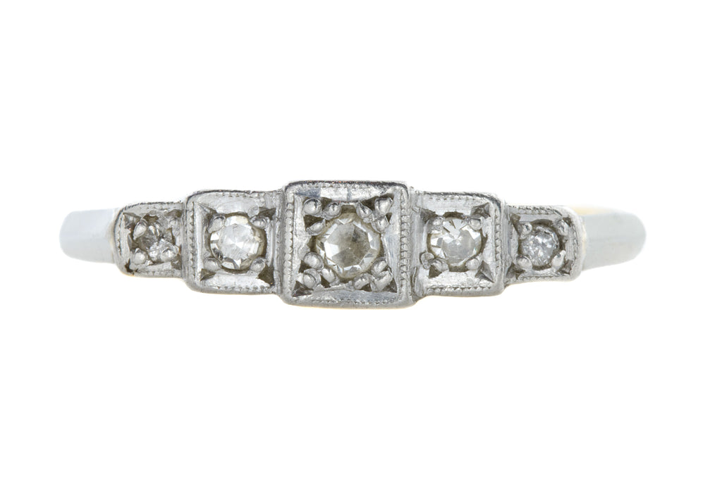 18ct Gold Art Deco Five Stone Diamond Ring