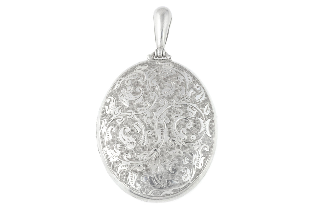 Antique Engraved Silver Locket