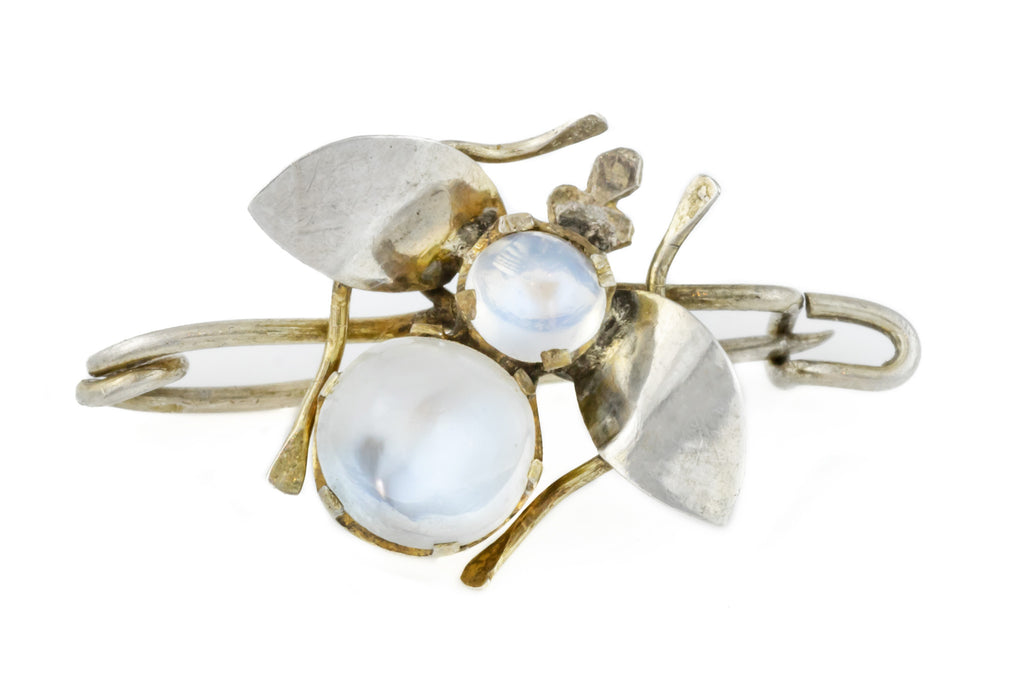 Antique Moonstone Bug Brooch (1.59ct)