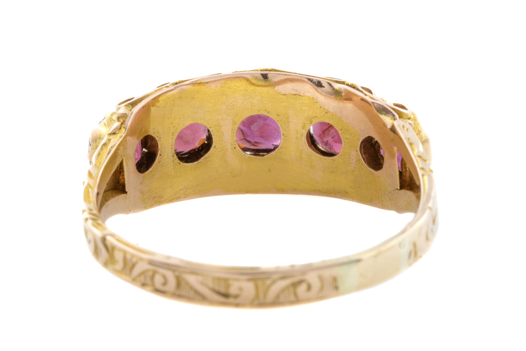 Antique 15ct Gold Garnet Ring (2.32ct) c.1872