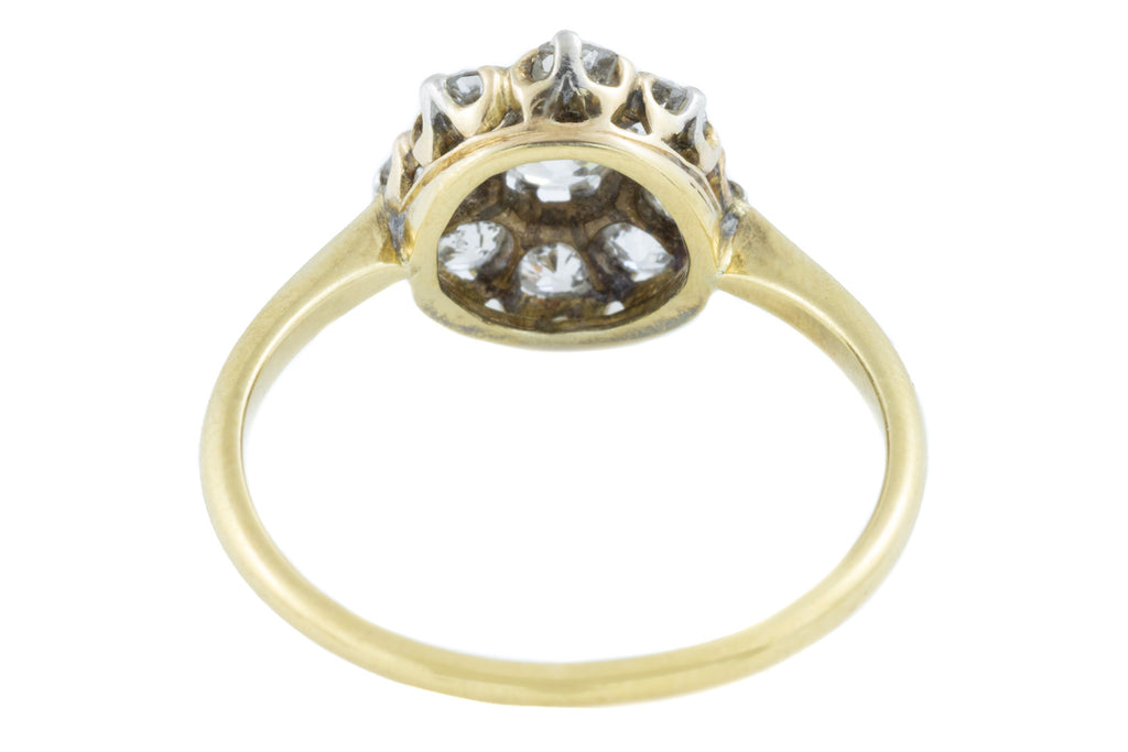 Antique 18ct Gold Diamond Cluster Engagement Ring (1.16ct)