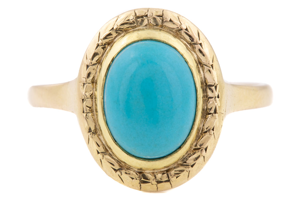 12ct Gold Art Deco Turquoise Ring (2.55ct)